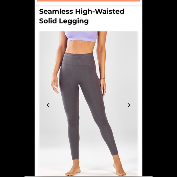 19ced9ba428669 Fabletics Pants   Seamless Highwaisted Solid Leggings In Black ...